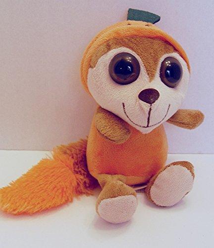 Dan Dee Big Eyes Halloween Lemur in Orange Pumpkin Costume 8 Inches Long