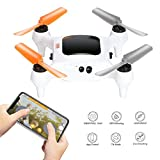 Smart Nano Drone With 15MP Camera 1080P FHD Live Video WiFi Quadcopter GPS, One Touch Take-Off And Landing For Beginners On iPhone Or iOS Device