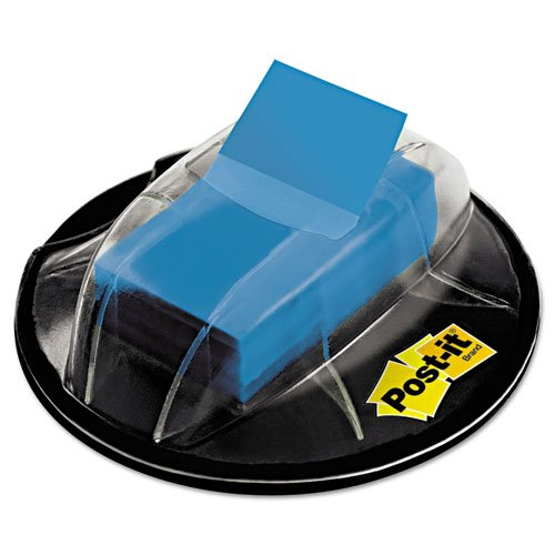 Flags Desk Grip Dispenser - Post-it 680HVBE Page Flags in Desk Grip Dispenser, 1 x 1 3/4, Blue, 200/Dispenser