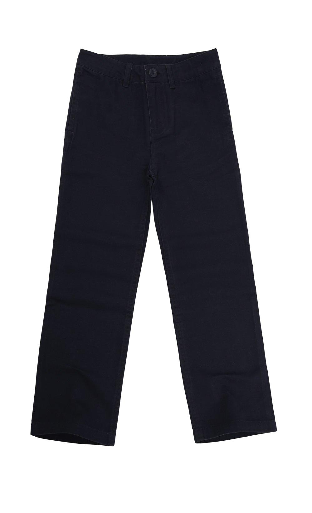 Bienzoe Big Boy's School Uniforms Flat Front Adjust Waist Pants Navy Size 16