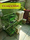Parrot Integrated Automatic Bird Feeder No Mess Pet Feeder Seed Food Container Perch Cage Accessories for Budgerigar Canary Cockatiel Finch Parakeet Green Cheek Conures Parrotlets Lovebirds