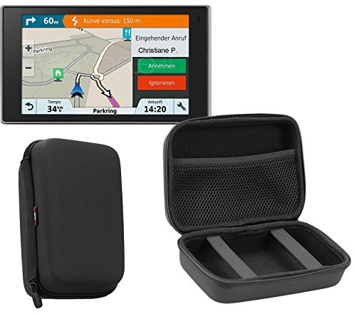 Navitech Charcoal Grey Heavy Duty Rugged Slim case for the Garmin Camper ()