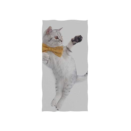 Corbata linda y graciosa Gato suave Spa suave Toalla de baño Playa ...