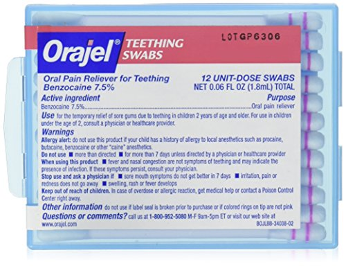Orajel Teething Swabs, 12 Count - Oral Pain Relief Swabs Shopping Results