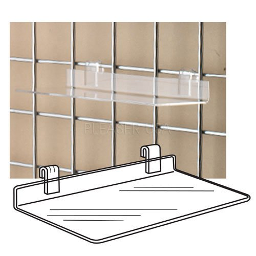 SHOE SHELVES- Clear Acrylic Gridwall Shelf by Accessories 22