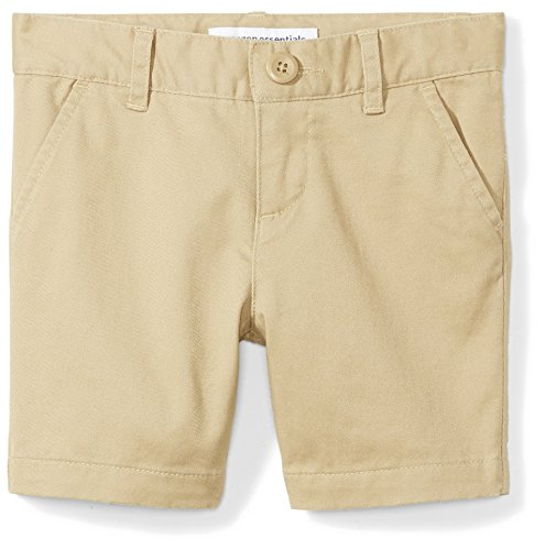 - Amazon Essentials Girls' Uniform Short, Khaki, 2T