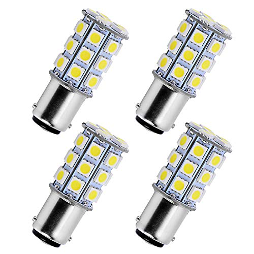 (YINTATECH 4 X BA15D 5050 27-SMD LED Super White Car Marine Boat RV Camper Light 1142 1076)