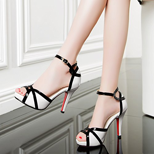 Chaussures KHSKX Sort Bien Tous Hairtails Sandales 10 Boucle Des white Élèves Bouche Correspondent Couleur Imperméables Cm Avec Bien Mot aHwgraSx