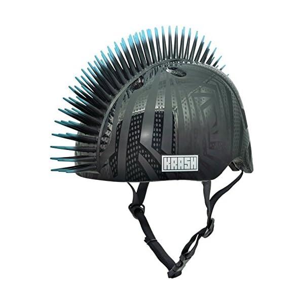 Krash Black Gator Youth Mohawk Helmet