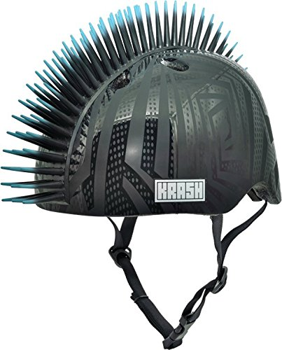 Krash Black Gator Youth Mohawk Helmet