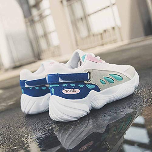 De Femmes Sport Respirant Sécurité Bleu Confortable Chaussons Running Été Légère Randonnée Chaussures Baskets Manadlian Travail q5RxwB