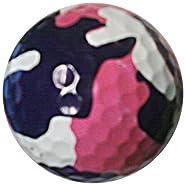 GBM Golf Miscellaneous Novelty 3 Ball Sleeve, Pink Camo