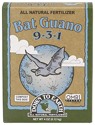 Down To Earth Organic Bat Guano Fertilizer Mix 9-3-1, 0.25 lb