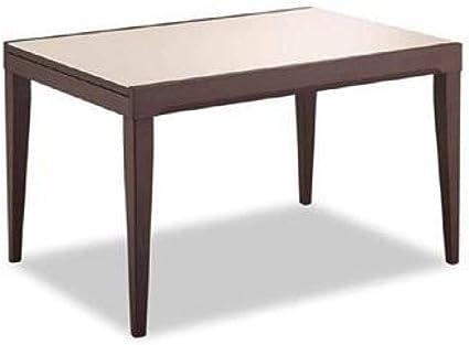 O G Fly Table Repas Extensible Wenge Avec Plateau En Verre Beige Cappuccino 130 230 Cm Amazon Fr Cuisine Maison