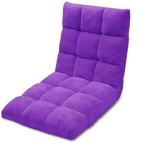 Amazon.com: ALXLX Height Adjustable Floor Chair with Back ...