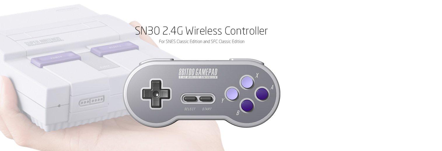 8Bitdo SN30 2.4G Wireless Controller for SNES Classic Edition [nintendo_super_NES] by 8Bitdo (Image #2)