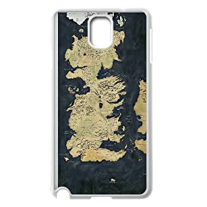 Samsung Galaxy Note 3 Cell Phone Case White Map Game of Thrones Ehyai