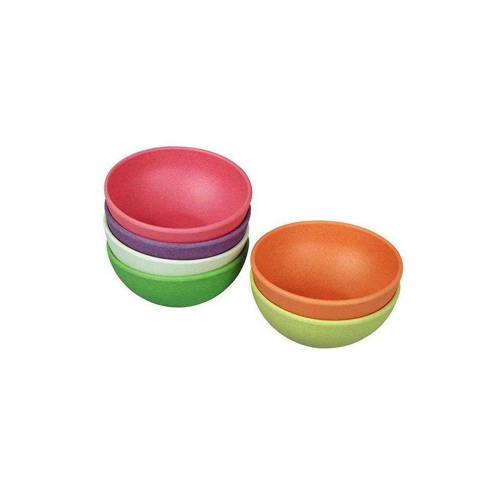 Zuperzozial Raw Earth Tasty Treats Bowls Set of 6 Rainbow 100% Biodegradable Ice Cream Pudding Dessert Bowl 4'' dia