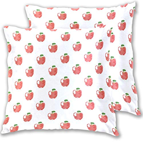 Popular Ipad Mini Pro Tablet Wallpaper Patter Throw Pillow Cover, Cotton Square Home Decor Pillowcases for Sofa Bedroom Car, Set of 2 -