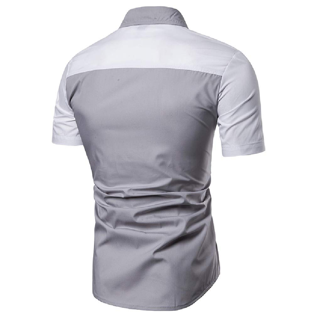 Vska Mens Casual Silm Fit Raglan Sleeve Assorted Colors Bussiness Shirts