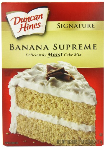 - Duncan Hines Signature Banana Layer Cake Mix, 18.25-Ounce Boxes (Pack of 6)
