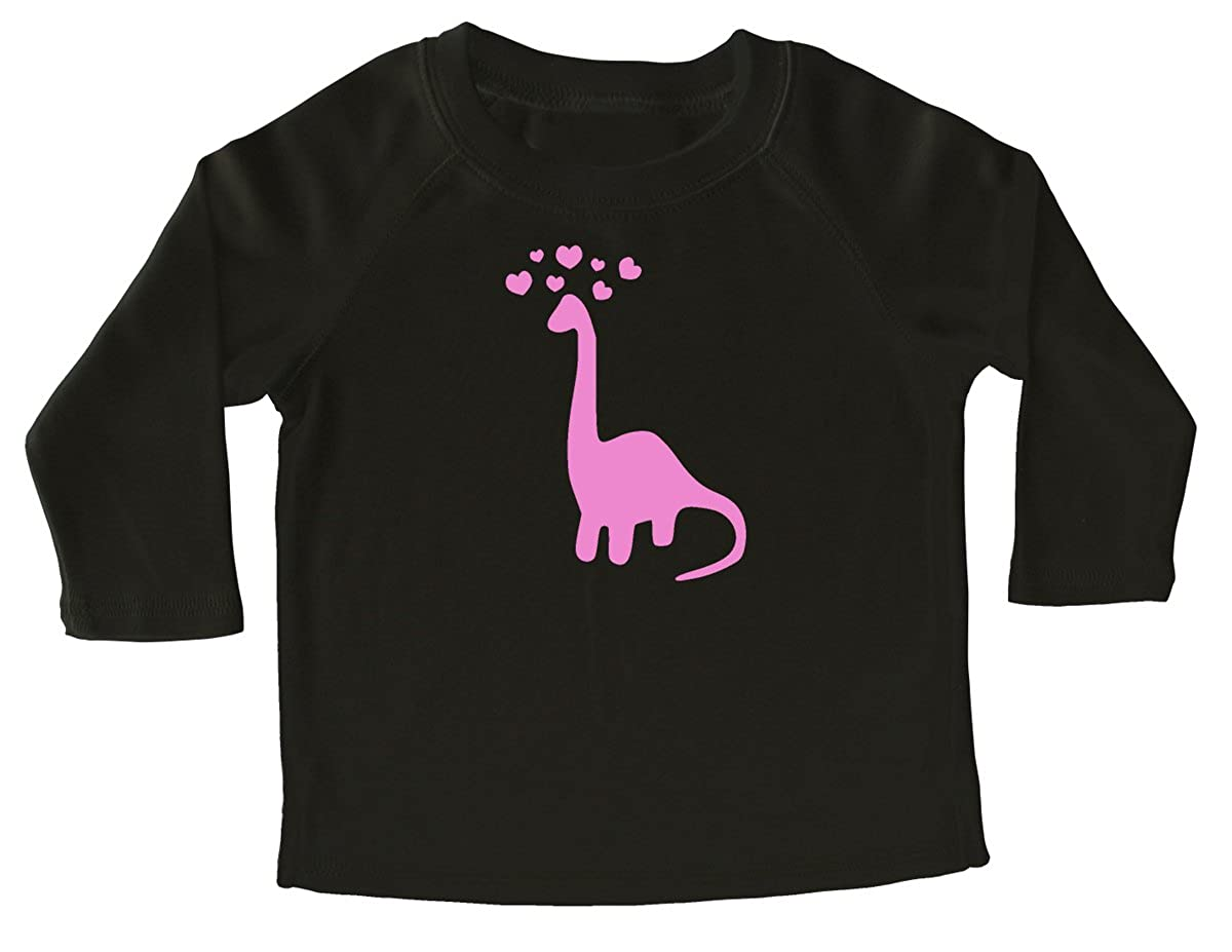 18-24 months, Black and Pink Valentines Day Baby /& Toddler Long Sleeve T-shirt Dinosaur Love