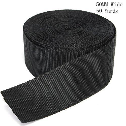 Correa de nailon resistente de polipropileno de color negro de 50 m de la marca Retong, 3, 50 mm