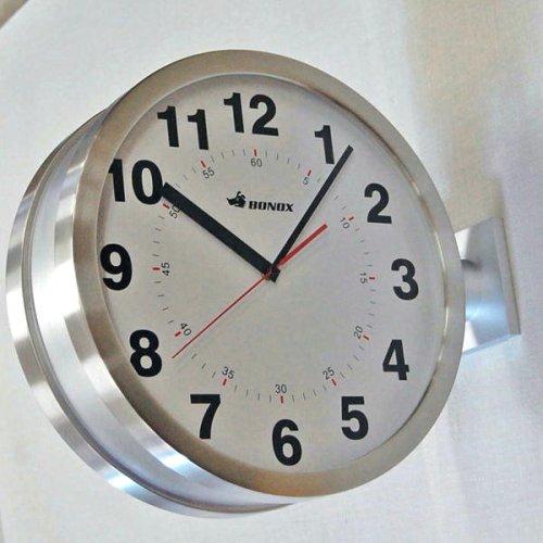 DOUBLE FACES WALL CLOCK (シルバー) B001T9P6DM