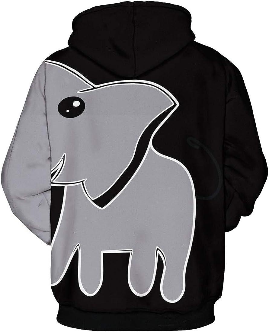 Silver Basic Girls Fashion 3D Printed Parent-Child Family Sweatshirt Pullover Hoodies