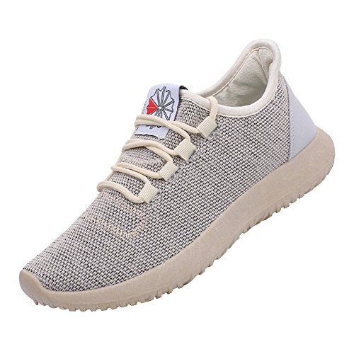 Summer Men Women Unisex Couple Casual Fashion Sneakers Breathable Athletic Sports Shoes Gold EU46-US Women Size 11.5/US Men Size 10.5