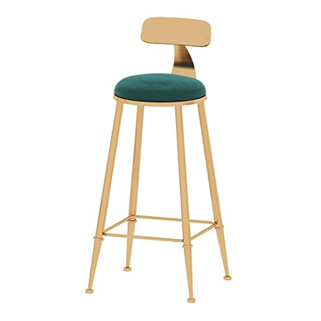 Fabulous Amazon Com Oug Simple Gold Wrought Iron Bar Stool Kitchen Machost Co Dining Chair Design Ideas Machostcouk
