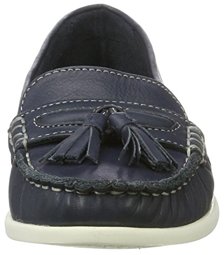 Azul Mocasines Sailor para Jfm17 Bianco Navy Loafer Blue Tassel Mujer w0T1qp