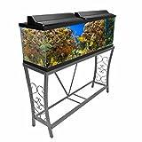 Aquatic Fundamentals AZM-102552 Aquarium Stand, 55 Gallon, Gray