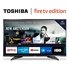Toshiba 4K UHD Smart TV is a new generation of smart TVs featuring the Fire TV experience built-in and including a Voice Remote with Alexa. With true-to-life 4K Ultra HD picture quality and access to all the movies and TV shows you love, Tosh...