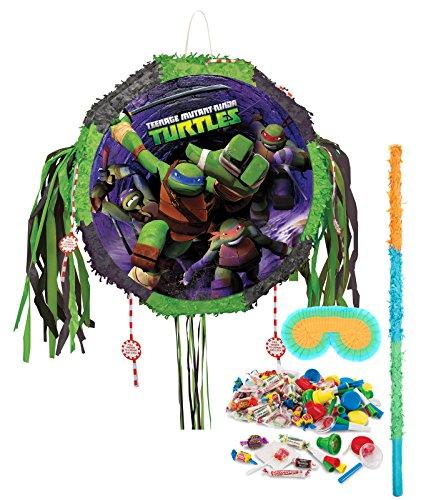 BirthdayExpress Teenage Mutant Ninja Turtles Drum Pull-String Pinata Kit -