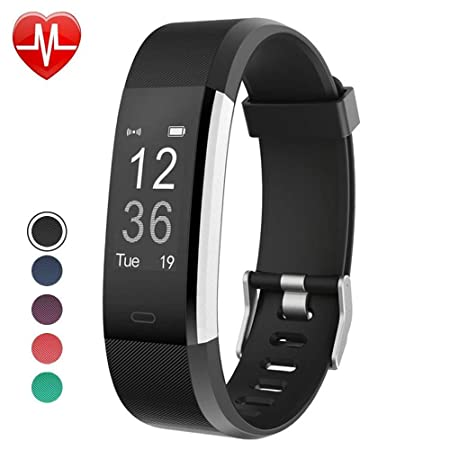 YAMAY Fitness Tracker with Heart Rate Monitor,Fitness Watch Activity Tracker IP67 Waterproof with Sleep Tracker,Step Counter Alarm Clocks,Call SMS SNS Notice,Pedometer Watch for Men,Women and Kids