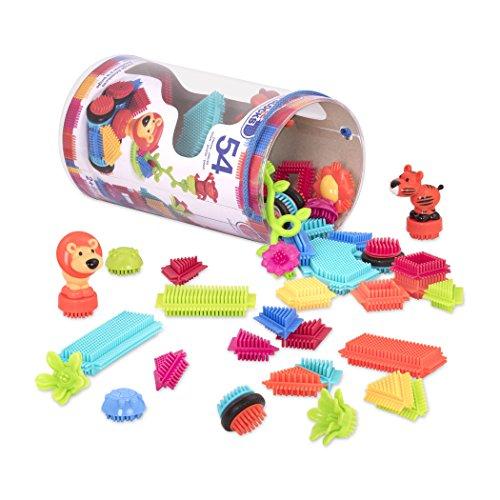 51RAMFvJQOL - BRISTLE BLOCKS By BATTAT Bristle Blocks Toy Building Blocks for Toddlers (54 pieces)