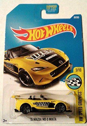 Hot Wheels 2017 HW Speed Graphics '15 Mazda MX-5 Miata 80/365, Yellow ()