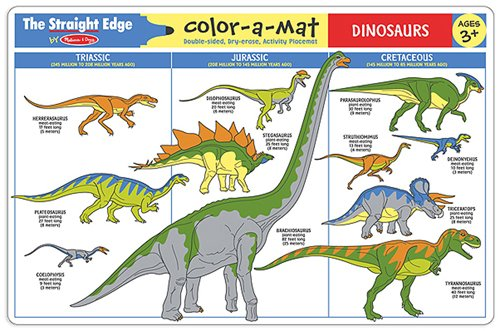 Melissa & Doug Dinosaurs Color-A-Mat Puzzle (6 Pieces)