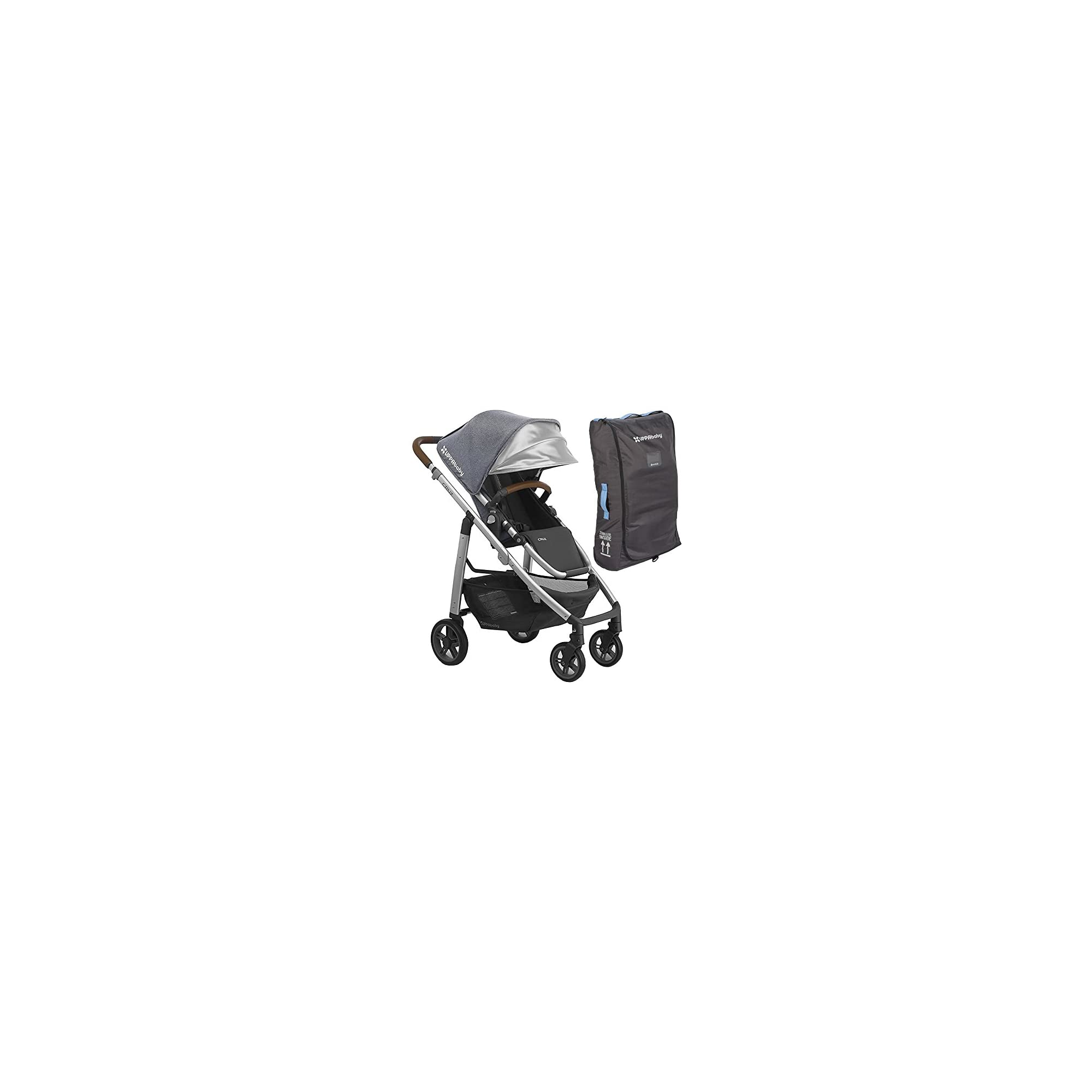 UPPAbaby Full-Size Cruz Infant Baby Stroller & Travel Bag Bundle, Gregory
