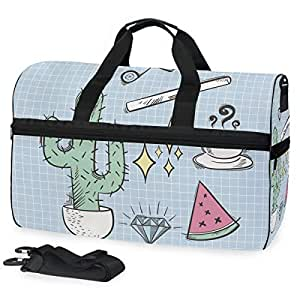 Amazon.com: Leisure Cactus Art Sports Swim Gym Bag with ...