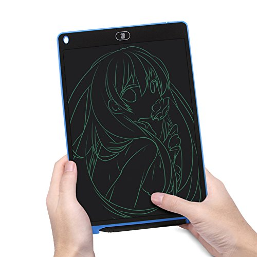 12 Inch LCD Writing Tablet Drawing Board Handwriting Pad with Screen Lock and Mouse Pad Function,Digital Electronic Notepad Graphic Whiteboard for Kids Children (Blue) by Usbkingdom