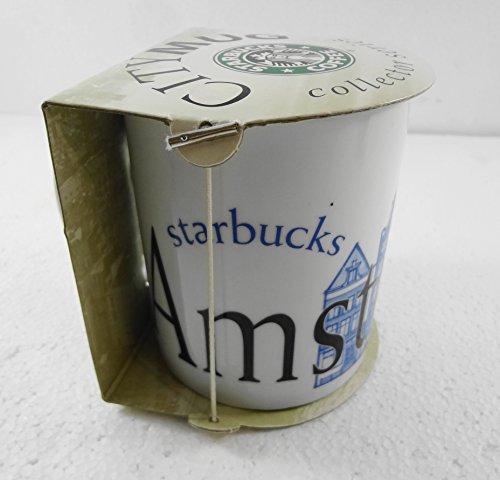 Starbucks Amsterdam City Collector Series 16 Oz Coffee Mug 2002 Blue Houses