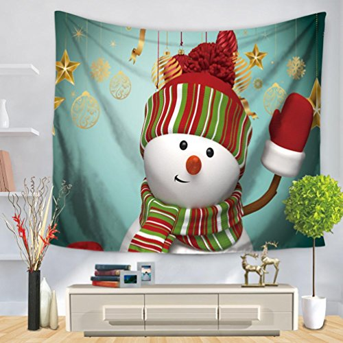 Sumen Christmas Tapestry Home Decor Wall Hanging Curtain Bed Cover