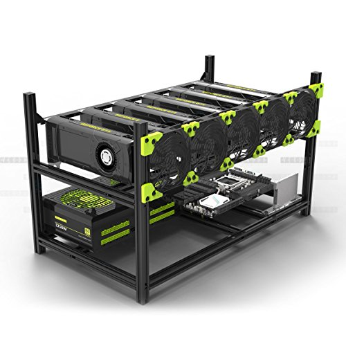 Aluminum Stackable Mining Case Rig Open Air Frame For ETH/ETC/ ZCash - Frames Virtual