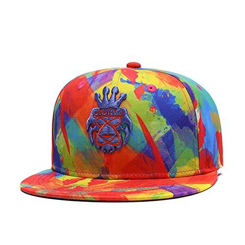 - Hip Hop Snapback Hat Unisex Trucker Hat Hip Hop Plaid Flat Bill Brim Adjustable Baseball Cap Red Blue