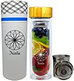 Best Other Fruit Infuser Bottles - NALU SUN Tea Infuser Tumbler, Fruit Infusion Glass Review