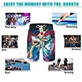 Mens 3D Print Cat Shark Graphic Board Shorts Summer Casual Athletic Beach Swimming Vacation Surfing Swim Trunks