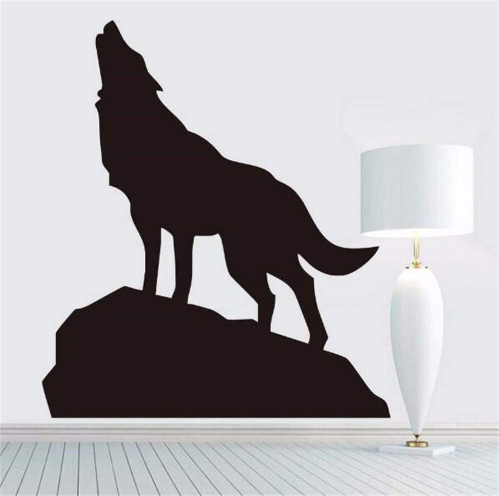 Juabc Moderna Moda Lobo Aullando Pegatinas De Pared Animales ...