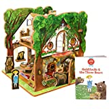 Goldilocks and The Three Bears Book and Toy Set
